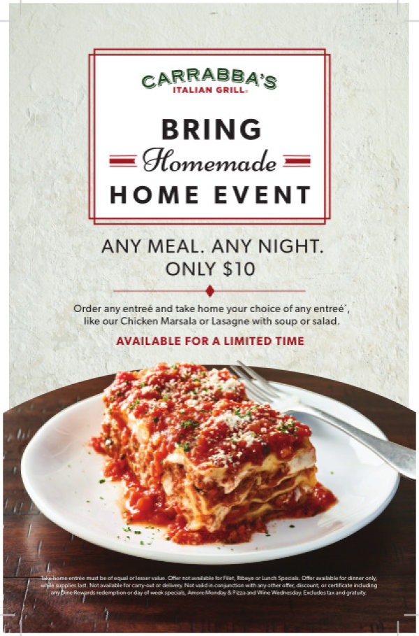 None - Register To Win A $50 Gift Card to Carrabba's Italian Grill!