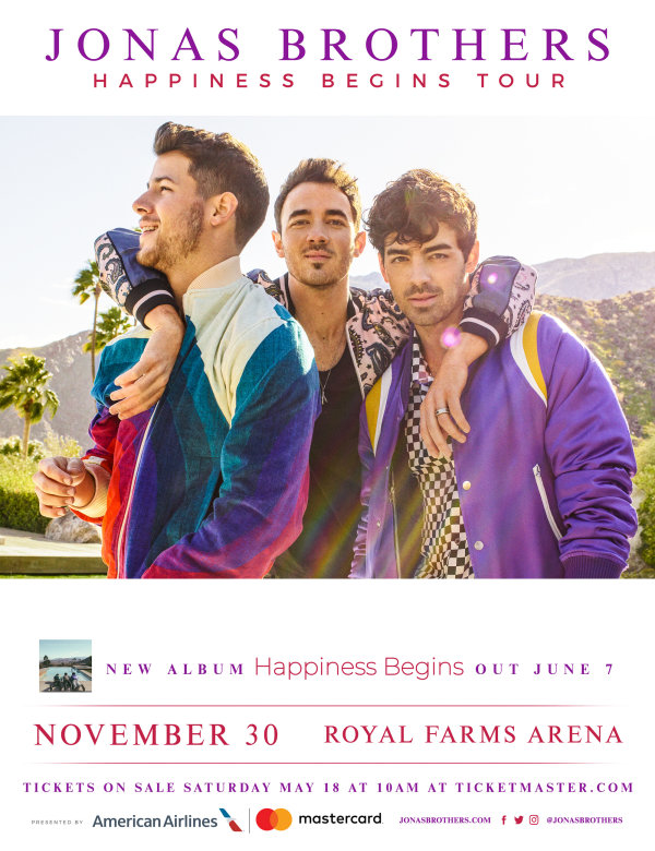None -      Win Tickets to See Jonas Brothers at Royal Farms Arena!