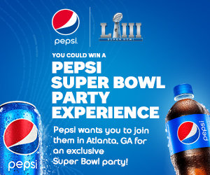 You could win a Pepsi Super Bowl Party Experience!