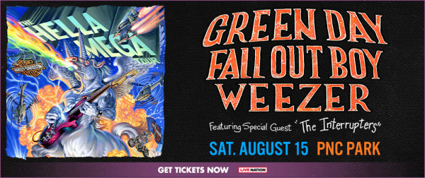 None - Win tickets to the Hella Mega Tour with Green Day, Fall Out Boy, and Weezer!
