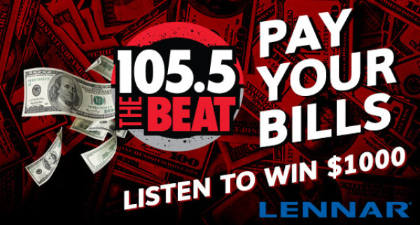 None -    Pay Your Bills with $1000 CASH from 105.5 The Beat