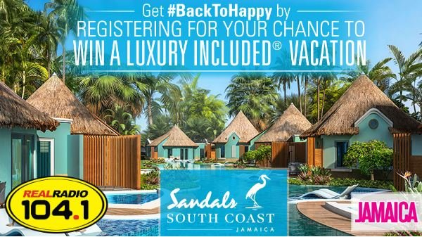 Real Radio 104.1 wants to send you on a Luxury Included® Vacation to Sandals South Coast!