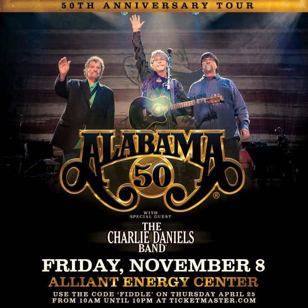 None - Win Tickets to see Alabama on November 8!