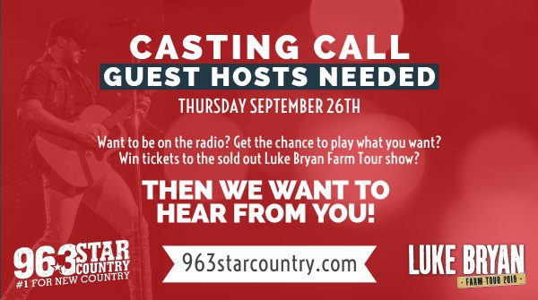 None - CASTING CALL: Looking for the BIGGEST Luke Bryan Fans!