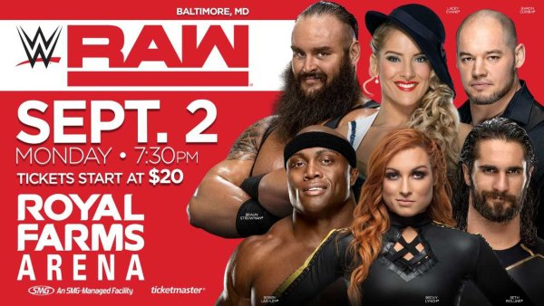 None - WWE RAW LIVE | Royal Farms Arena