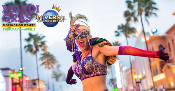 image for 107.3 PLANET RADIO wants to send you to Mardi Gras at Universal Orlando Resort!