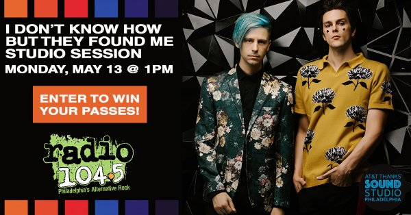 None -  Win Your Invite: I Don't Know How But They Found Me Studio Session Mon 05.13 @ 1p