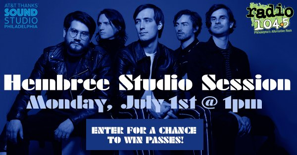 None -      Win Your Invite: Hembree Studio Session on Monday, July 1st @ 1p