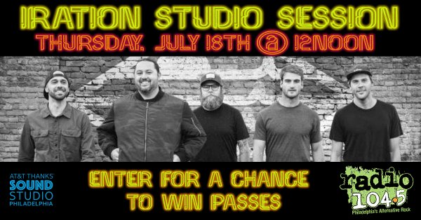 None -       Win Your Invite: Iration Studio Session on Thursday, July 18 @ 12 noon