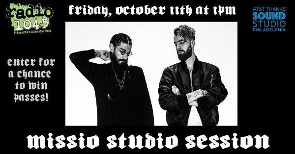 None - Win Your Invite: Missio Studio Session – Friday, October 11th @ 1p