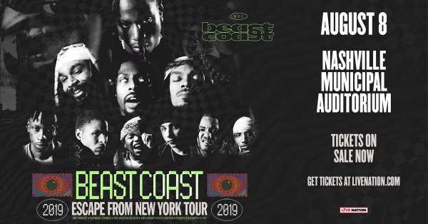 None -               Beast Coast: Escape from New York Tour featuring Joey Bada$$ & Flatbush Zombies