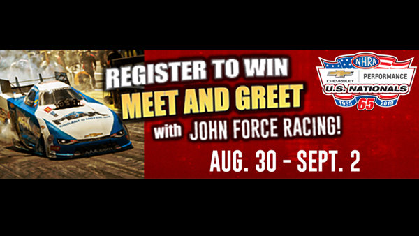 None - Register to Win Meet & Greet with John Force Racing!