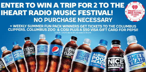 None - Register to win a trip for 2 to the iHeart Radio Music Festival and MORE from Pepsi!