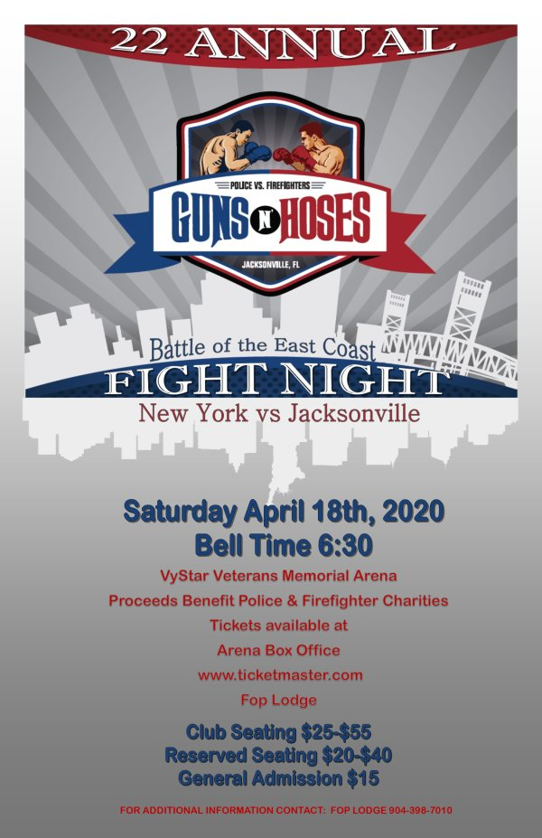 None - Win A Pair Of Tickets To Guns N Hoses Charity Boxing Event