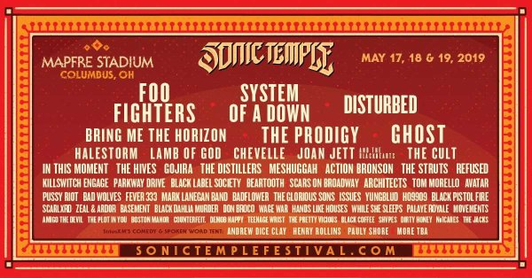 None - Sonic Temple Art + Music Festival Ticket Giveaway!