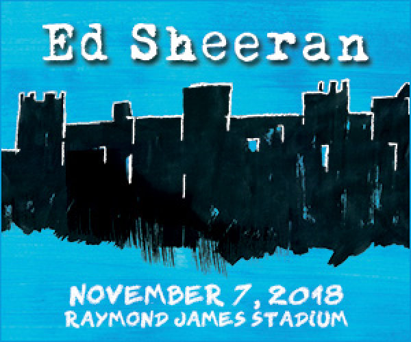 Ed Sheeran November 7th 2018 at Raymond James Stadium in Tampa