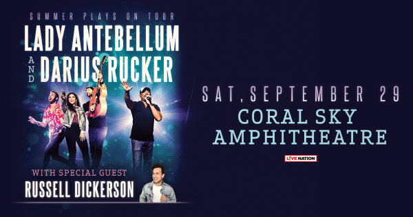 Enter to win a pair of tickets to see Lady Antebellum & Darius Rucker!
