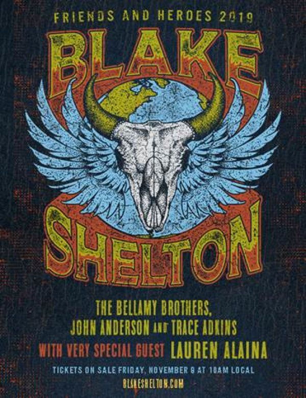 None - Blake Shelton 'Friends & Heroes' 2019 Tour!