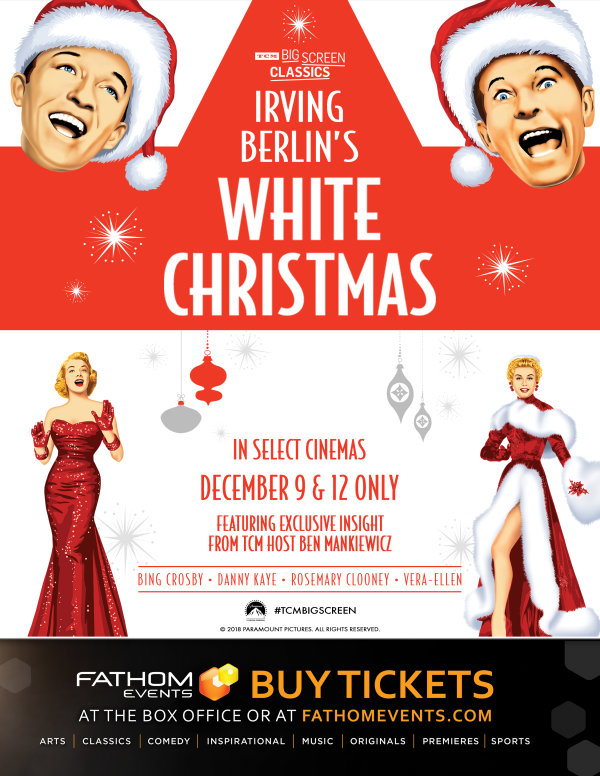 None - Enter to win a Pair of Tickets to a special screening of White Christmas!