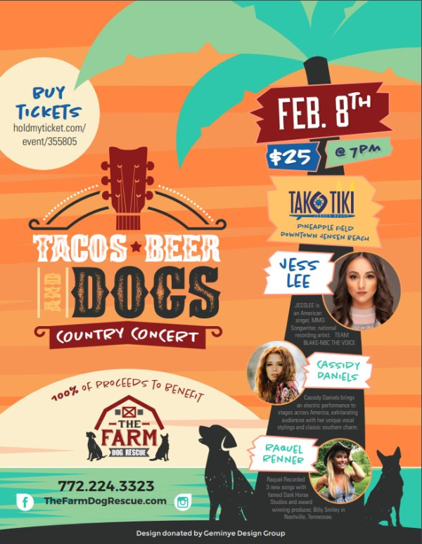 None - Tacos, Beer & Dogs Country Concert!