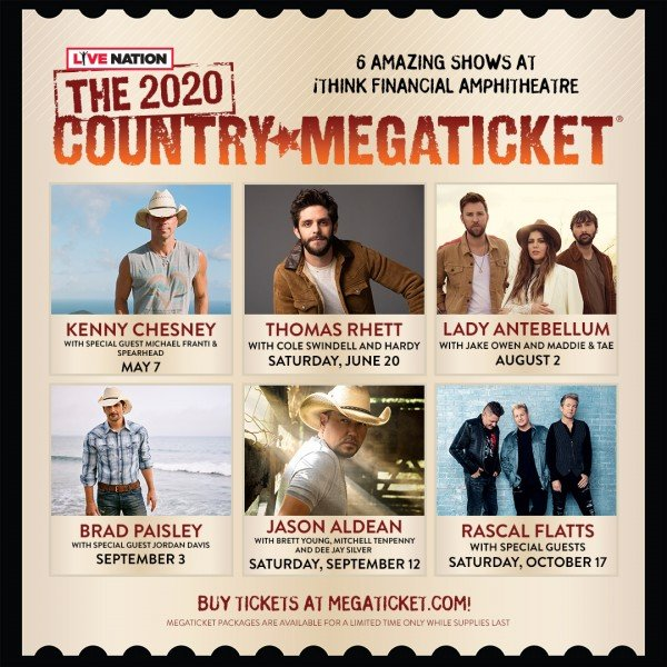 None - The 2020 Country Megaticket!