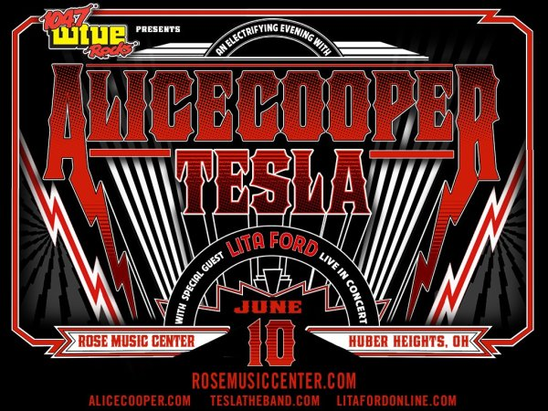 image for 104.7 WTUE presents Alice Cooper and Tesla with special guest Lita Ford