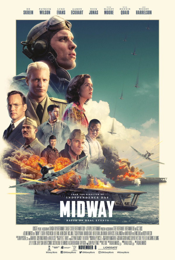 None - Enter for a chance to win a pass for 2 to the advanced screening of MIDWAY!!