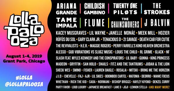 None - Win Lollapalooza 4-Day GA Tickets!