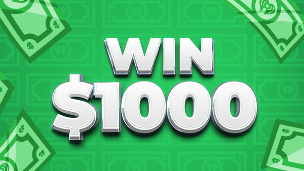 None - WIN $1,000 an Hour. 5am-8pm Listen to Text in to Win