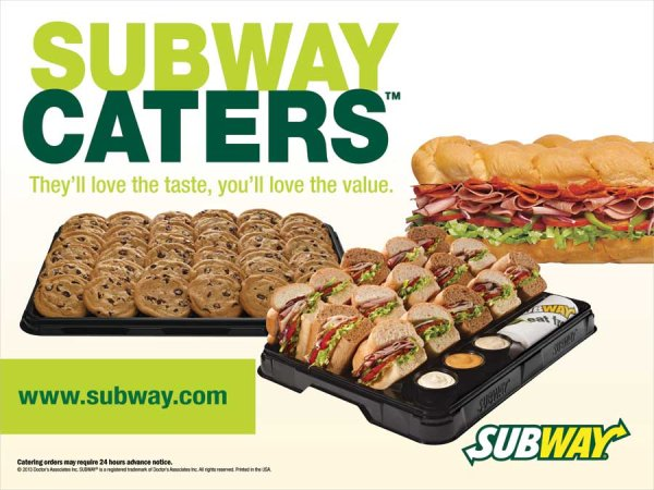 None - Win A Subway catered lunch for your work site