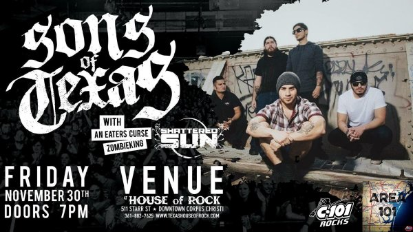 None -  Sons of Texas with Shattered Sun and More!