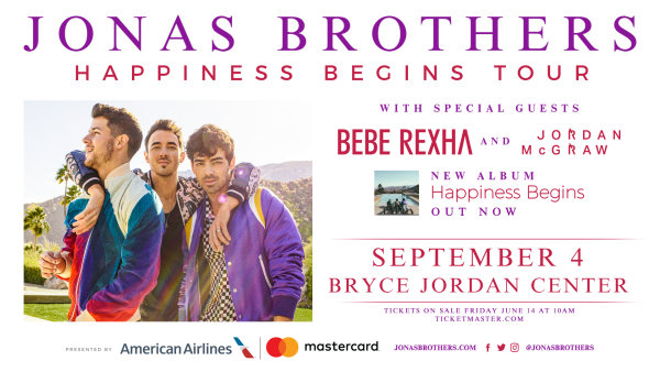 None - Jonas Brothers at the BJC on September 4th!