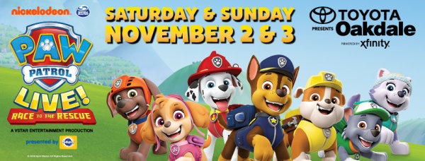 None - PAW Patrol Live! Race to the Rescue tickets at the Toyota Oakdale Theatre this November!