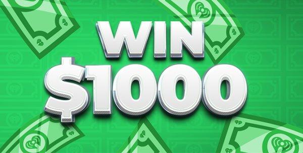 None - Listen to win $1,000