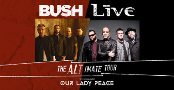 None - Win tickets to see +LIVE+ & BUSH Celebrate 25th Anniversary of their Hit Albums with The Altimate Tour at The AMP!