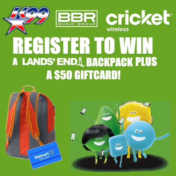 None - Head back to school in style with Cricket and K-99!