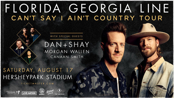None - REGISTER TO WIN TICKETS TO SEE FLORIDA GEORGIA LINE AT HERSHEYPARK STADIUM
