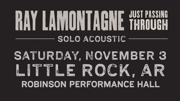 None - Ray LaMontagne Ticket Giveaway!