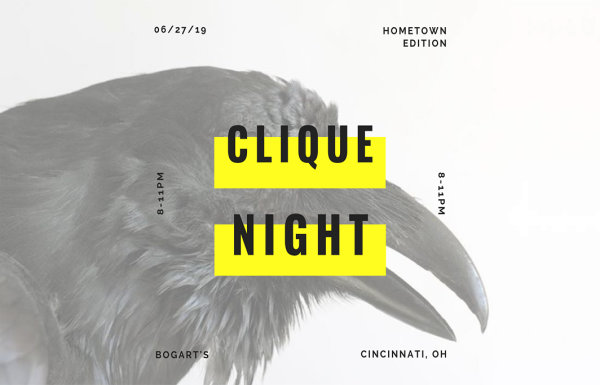 None -  Enter to win tickets to Clique Night at Bogart's on June 27th!