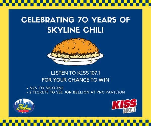 None - Win a $25 Skyline Chili gift card and 2 tickets to see Jon Bellion!