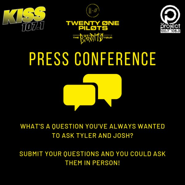 None - Press Conference with twenty one pilots on Oct 22nd at US Bank Arena!