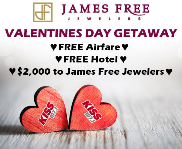 valentines day getaway with james free jewelers - Valentines Day Getaway