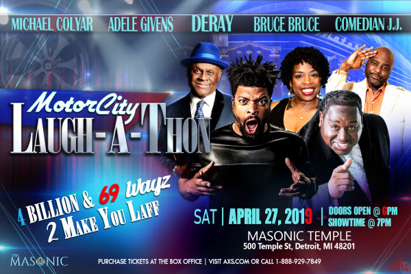 None - Win tickets to the Motor City Laugh-A-Thon!