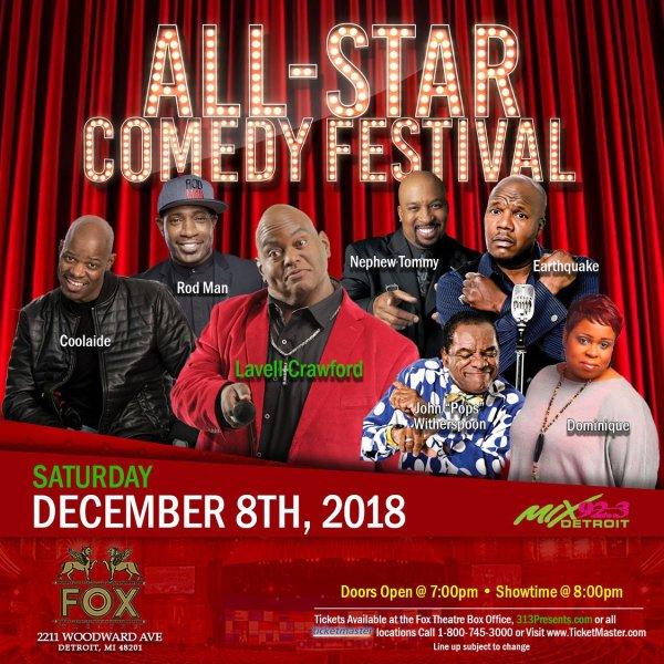 None - Win tickets to the All Star Comedy Festival!