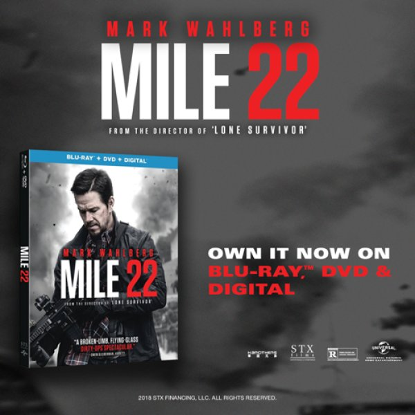 None -  Win a copy of Mile 22 on Blu-ray Combo Pack