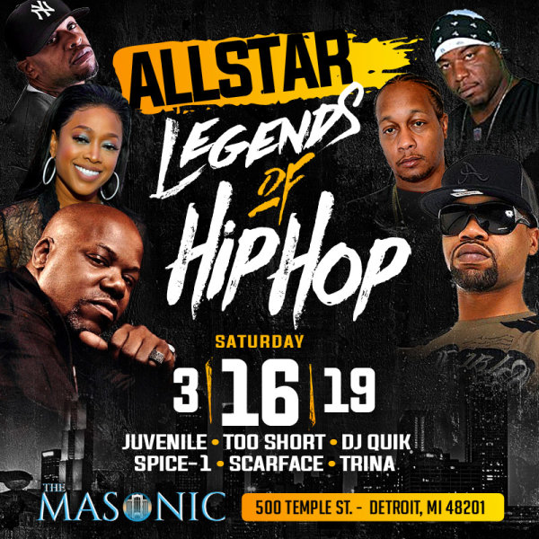 None - Win tickets to see the All Star Legends of Hip Hop!
