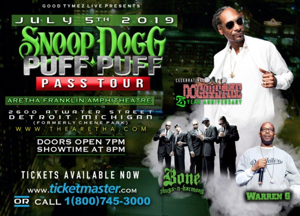 None - Win Tickets to Snoop Dogg's Puff Puff Pass Tour