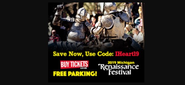 None - Win a 4-pack of tickets to the Michigan Renaissance Festival