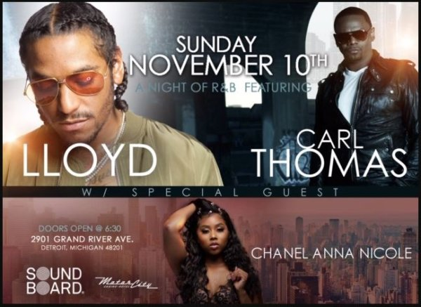 None - Win tickets to Lloyd with Special Guest Carl Thomas