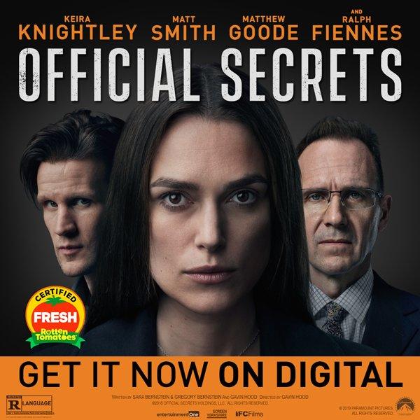 None - Win a digital download of Official Secrets